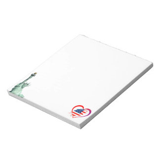 Usa heart notepad
