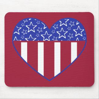 USA Heart Stars Mousepad