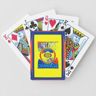 USA Hillary Beautiful Change Pattern Art design Bicycle Playing Cards