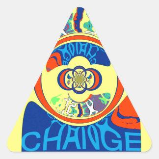 USA Hillary Beautiful Change Pattern Art design Triangle Sticker