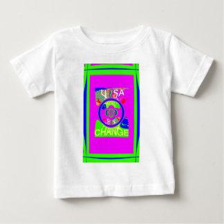 USA Hillary Change Monogram  Art design Baby T-Shirt