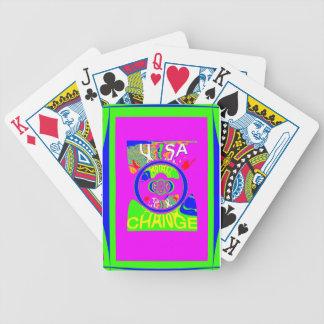 USA Hillary Change Monogram  Art design Bicycle Playing Cards
