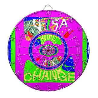 USA Hillary Change Monogram  Art design Dart Board