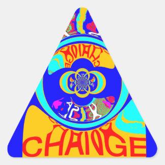 USA Hillary Change Pattern Art design Triangle Sticker