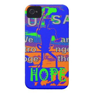 USA Hillary Hope We Are Stronger Together iPhone 4 Cases