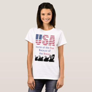 USA - Home of the Free Because of the Brave T-Shirt