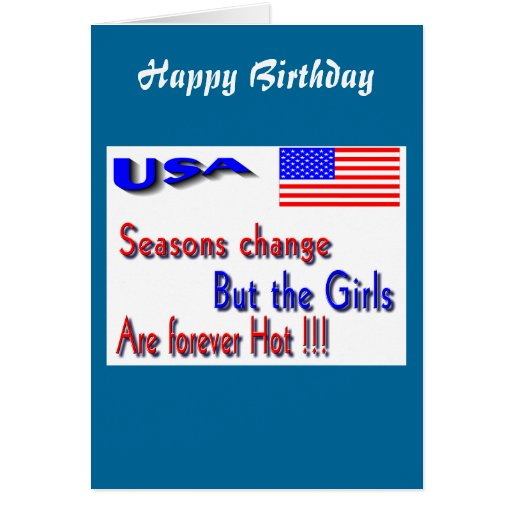 Usa hot girls greeting cards zazzle