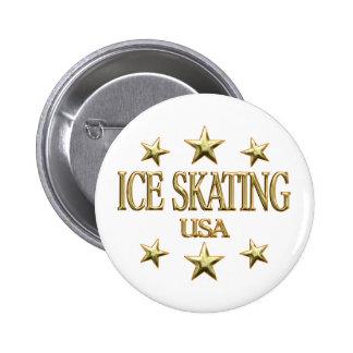 USA Ice Skating Pin