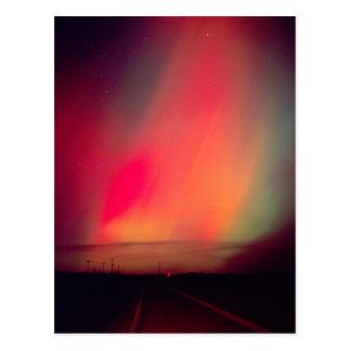 USA, Idaho. Aurora borealis, northern lights at Postcard