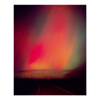 USA, Idaho. Aurora borealis, northern lights at Poster