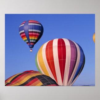 USA, Idaho, Teton Valley. Colorful hot-air Poster