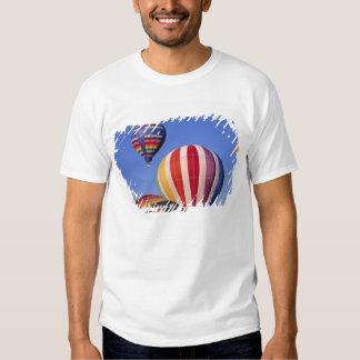 USA, Idaho, Teton Valley. Colorful hot-air Tshirt