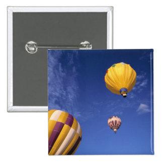 USA, Idaho, Teton Valley. Hot-air balloons 15 Cm Square Badge