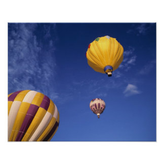 USA, Idaho, Teton Valley. Hot-air balloons Poster