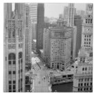 USA, IL, Chicago, Loop from Hotel Ceramic Tile