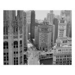USA, IL, Chicago, Loop from Hotel Poster