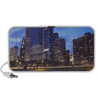 USA, Illinois, Chicago, City skyline of Randolph Notebook Speakers