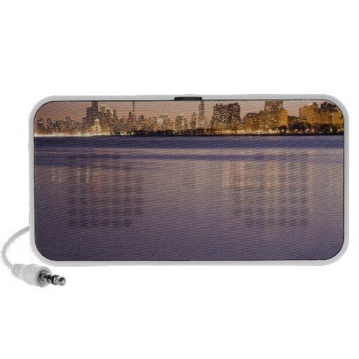 USA, Illinois, Chicago, City skyline over Lake 3 PC Speakers