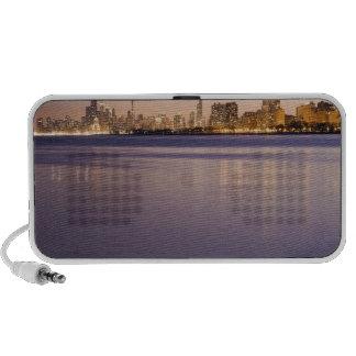 USA, Illinois, Chicago, City skyline over Lake 8 Mp3 Speakers