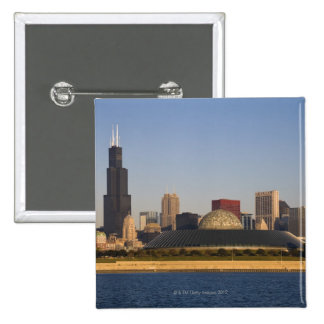 USA, Illinois, Chicago, City skyline with Adler 15 Cm Square Badge