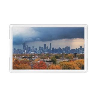 USA, Illinois, Chicago, cityscape Acrylic Tray