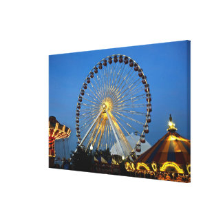 USA, Illinois, Chicago, Cityscapes, Lighted Gallery Wrap Canvas