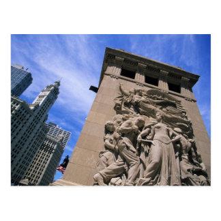 USA, Illinois, Chicago, Michigan Avenue Bridge Postcard