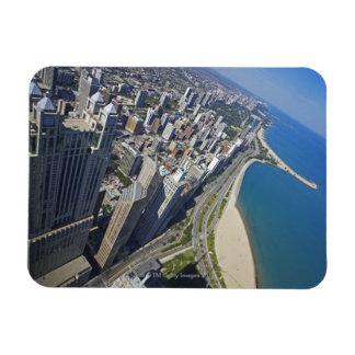 USA, Illinois, Chicago shore seen from Hancock Rectangular Photo Magnet