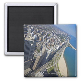USA, Illinois, Chicago shore seen from Hancock Square Magnet
