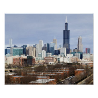 USA, Illinois, Chicago skyline 2 Poster