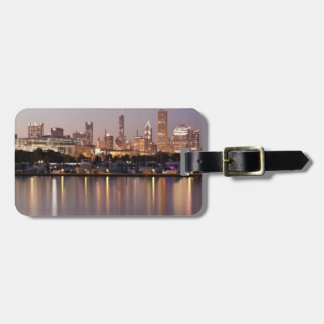 USA, Illinois, Chicago skyline at dusk Bag Tag