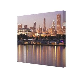 USA, Illinois, Chicago skyline at dusk Canvas Print