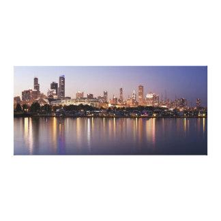 USA, Illinois, Chicago skyline at dusk Canvas Prints