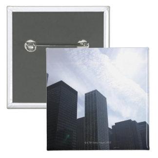 USA, Illinois, Chicago, skyline 15 Cm Square Badge