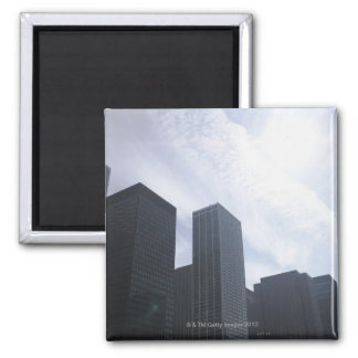 USA, Illinois, Chicago, skyline Square Magnet
