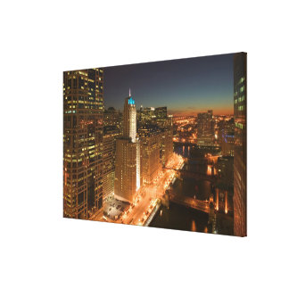 USA, Illinois, Chicago: The Loop: Buildings Stretched Canvas Prints