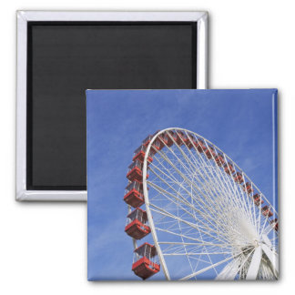 USA, Illinois, Chicago. View of Ferris wheel Magnet