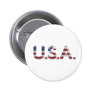 USA in chrome lettering Pin