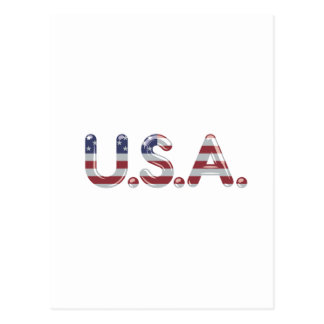 USA in chrome lettering Postcard