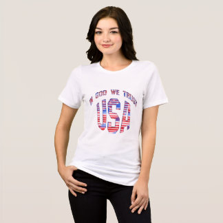 USA In God We Trust  T Shirts