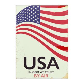 "USA ""In god we Trust"" vintage poster Acrylic Print"