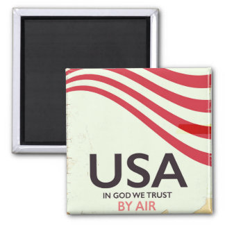 "USA ""In god we Trust"" vintage poster Magnet"