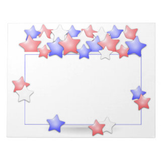 USA Independence Day Patriotic Stars American Notepads