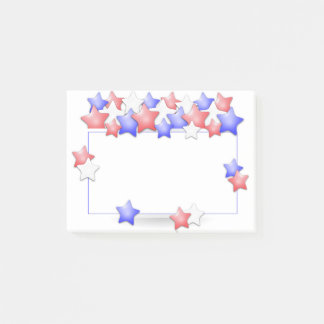 USA Independence Day Patriotic Stars American Post-it® Notes