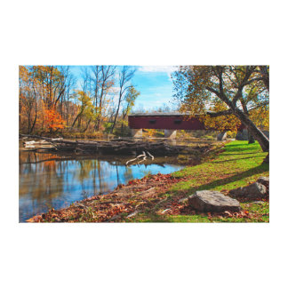 USA, Indiana, Cataract Falls State Recreation Canvas Print