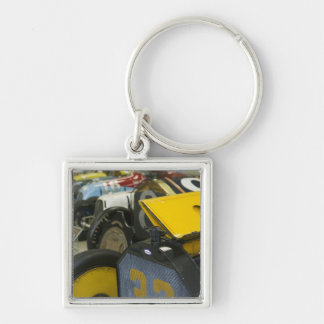 USA, Indiana, Indianapolis: Indianapolis Motor 5 Silver-Colored Square Key Ring