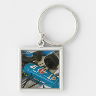 USA, Indiana, Indianapolis: Indianapolis Motor Silver-Colored Square Key Ring