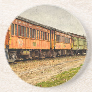 USA, Indiana. The North Mudson Railroad Museum Drink Coasters