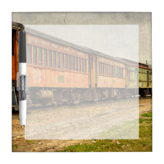 USA, Indiana. The North Mudson Railroad Museum Dry-Erase Board