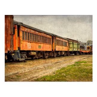 USA, Indiana. The North Mudson Railroad Museum Postcard